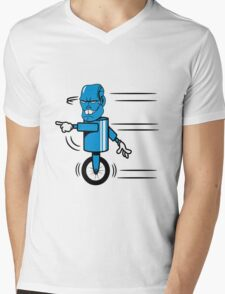 Robot monster funny cool fast funny comic Mens V-Neck T-Shirt