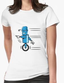 Robot monster funny cool fast funny comic Womens Fitted T-Shirt