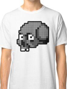 8 Bit Skull - Grey Classic T-Shirt