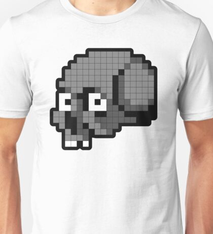 8 Bit Skull - Grey T-Shirt