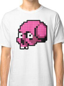 8 Bit Skull - Pink Classic T-Shirt