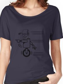 Robot monster funny cool fast funny comic Women's Relaxed Fit T-Shirt