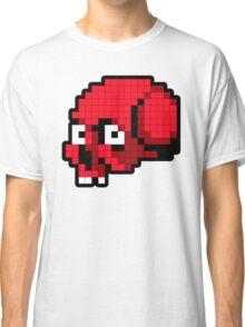 8 Bit Skull - Red Classic T-Shirt