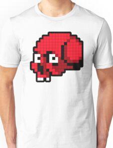 8 Bit Skull - Red Unisex T-Shirt
