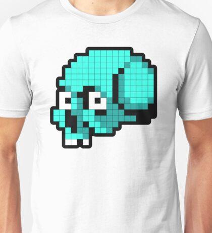 8 Bit Skull - Turquoise T-Shirt