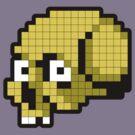 8 Bit Skull - Yellow by Tom Burns