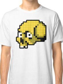 8 Bit Skull - Yellow Classic T-Shirt