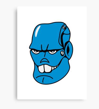 Robot monster cool comic face Canvas Print