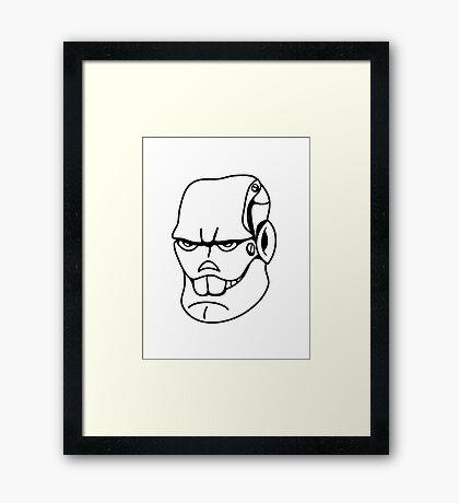 Robot monster cool comic face Framed Print