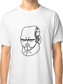 Robot monster cool comic face Classic T-Shirt