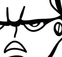 Robot monster cool comic face Sticker