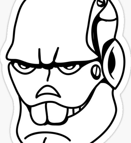 Robot monster cool comic face Sticker