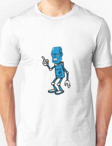 Robot monster cool attention fun comic Unisex T-Shirt