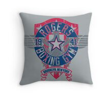 Rogers Boxing Gym 2 on Steel Throw Pillow
