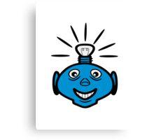 Robot head bulb cool funny funny Canvas Print