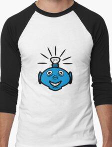 Robot head bulb cool funny funny Men's Baseball ¾ T-Shirt