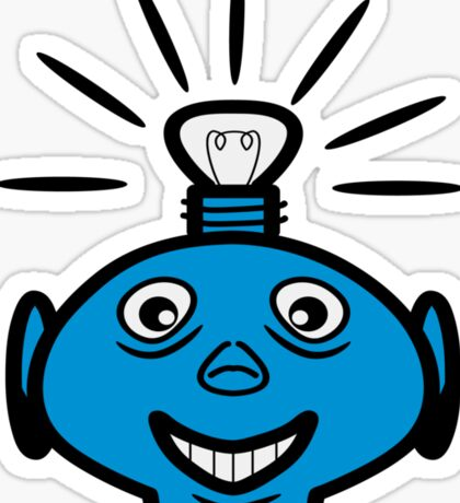 Robot head bulb cool funny funny Sticker