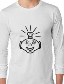 Robot head bulb cool funny funny Long Sleeve T-Shirt