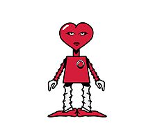 Robot woman's heart Romance love Photographic Print