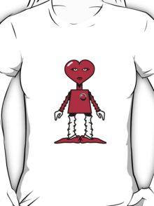 Robot woman's heart Romance love T-Shirt