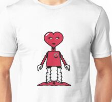 Robot woman's heart Romance love Unisex T-Shirt