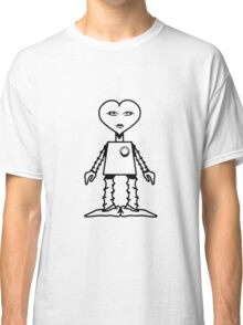 Robot woman's heart Romance love Classic T-Shirt