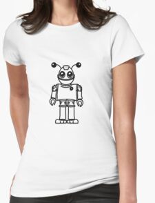 Cool funny robot toy fun Womens Fitted T-Shirt