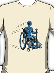 Cool funny robot wheelchair funny T-Shirt