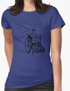 Cool funny robot wheelchair funny Womens Fitted T-Shirt