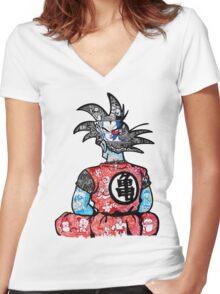 DBZ doodle  Women's Fitted V-Neck T-Shirt