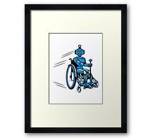 Robot cool humorous light wheelchair funny Framed Print