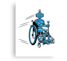 Robot cool humorous light wheelchair funny Metal Print