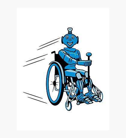 Robot cool humorous light wheelchair funny Photographic Print
