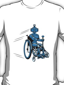 Robot cool humorous light wheelchair funny T-Shirt