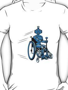 Robot cool humorous light wheelchair funny T-Shirt