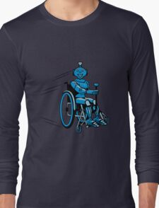 Robot cool humorous light wheelchair funny Long Sleeve T-Shirt
