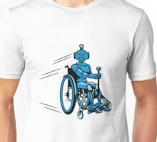 Robot cool humorous light wheelchair funny Unisex T-Shirt