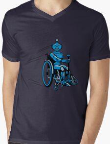Robot cool humorous light wheelchair funny Mens V-Neck T-Shirt