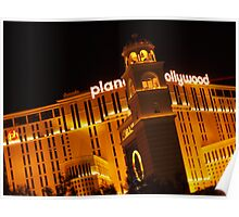 Planet Hollywood at Night Poster
