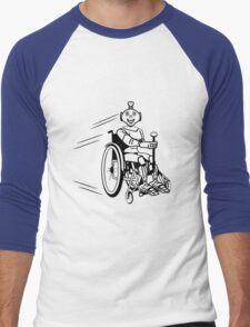 Robot cool humorous light wheelchair funny Men's Baseball ¾ T-Shirt