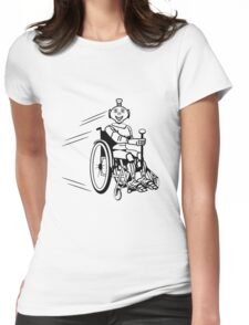 Robot cool humorous light wheelchair funny Womens Fitted T-Shirt