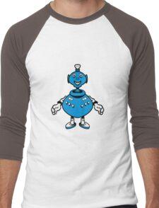 Robot cool funny PEAR fat funny Men's Baseball ¾ T-Shirt