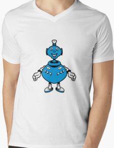 Robot cool funny PEAR fat funny Mens V-Neck T-Shirt