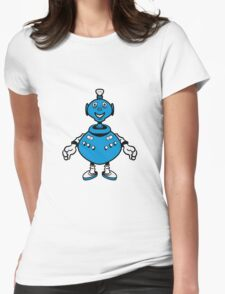 Robot cool funny PEAR fat funny Womens Fitted T-Shirt