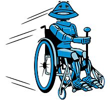 Robot cool tired funny funny wheelchair by Motiv-Lady