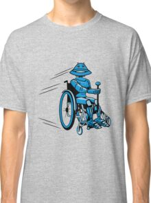 Robot cool tired funny funny wheelchair Classic T-Shirt