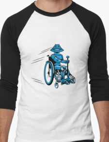 Robot cool tired funny funny wheelchair Men's Baseball ¾ T-Shirt