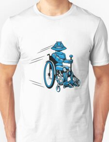Robot cool tired funny funny wheelchair Unisex T-Shirt