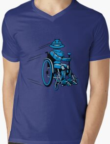 Robot cool tired funny funny wheelchair Mens V-Neck T-Shirt