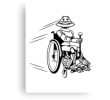 Robot cool tired funny funny wheelchair Canvas Print